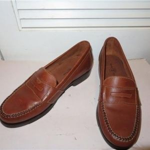 DUCK HEAD BROWN LEATHER SLIP-ON LOAFERS SHOES 9
